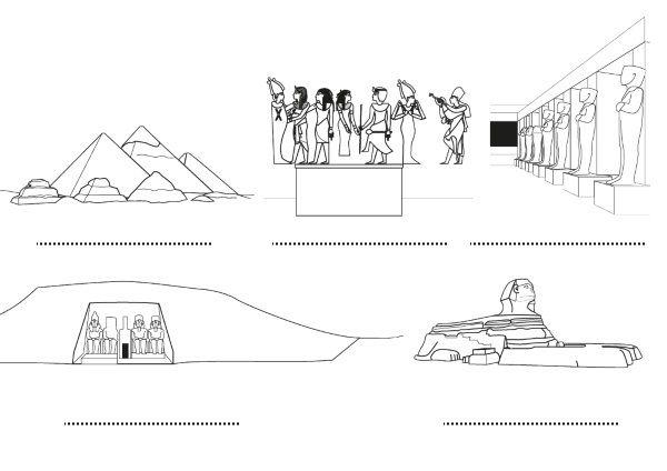 Egipto: dibujos para colorear e imprimir