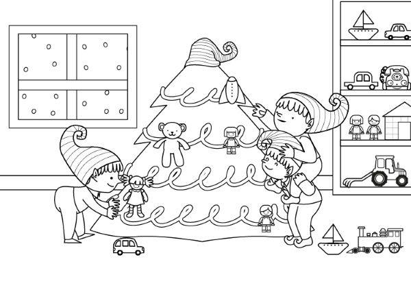 Original Libreta Mágica Para Raspar Dibujar Y Escribir: Duendes De Papá Noel: Dibujo Para Colorear E Imprimir