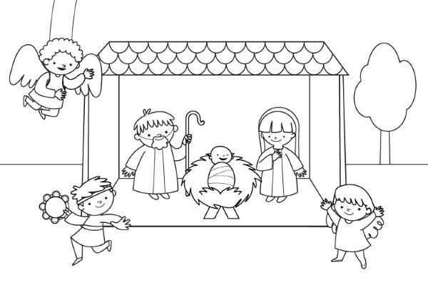 Libreta De Dibujo Mandala Unicornio Papel Blanco: Imprimir: Belén Viviente: Dibujo Para Colorear E Imprimir
