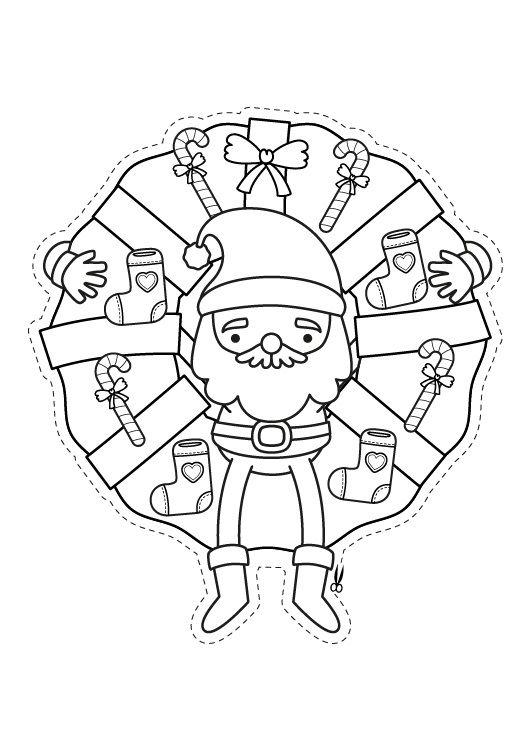 Corona de Navidad: dibujo para colorear e imprimir