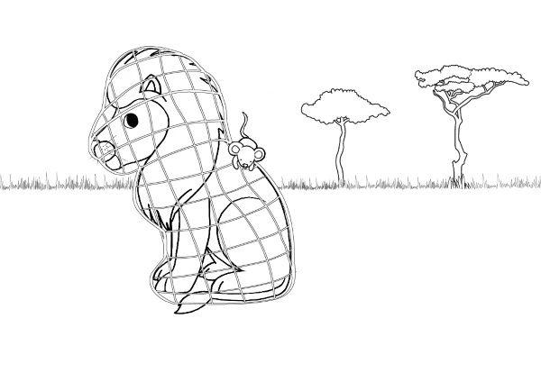 len y el ratn dibujo para colorear e imprimir