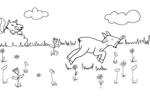 La cabra del señor Seguin: dibujo para colorear e imprimir