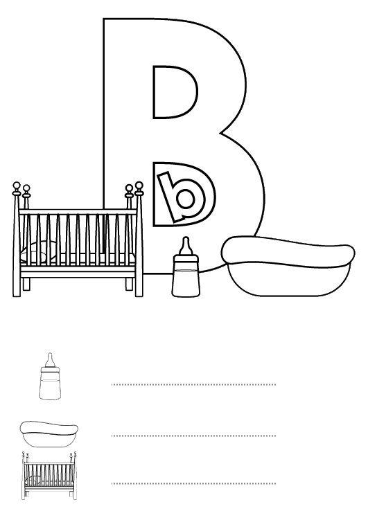 Letra B: dibujo para colorear e imprimir