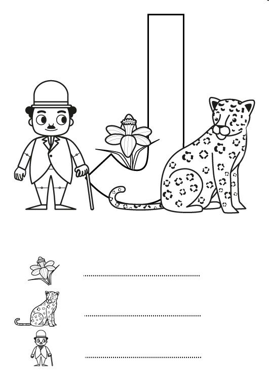 Letra J: dibujo para colorear e imprimir