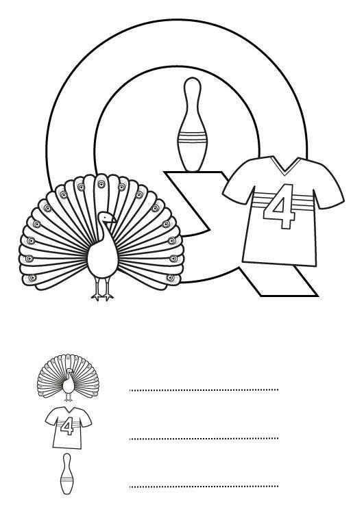 Letra Q: dibujo para colorear e imprimir