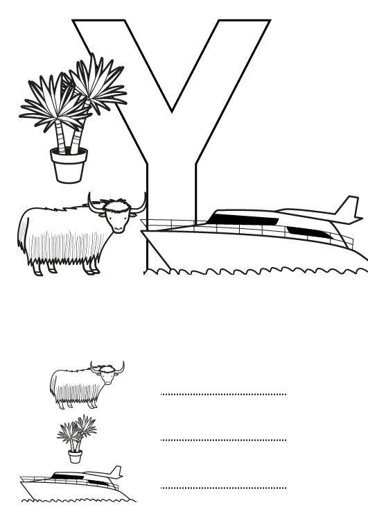 Letra Y Dibujo Para Colorear E Imprimir