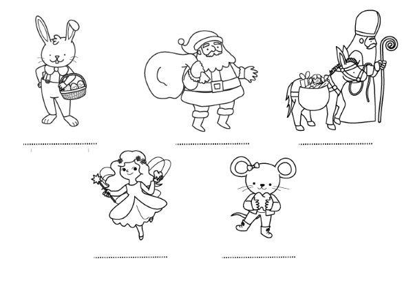 Amigos de los niños: dibujo para colorear e imprimir