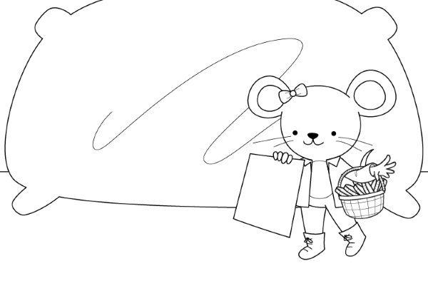 Ratoncito Pérez: dibujo para colorear e imprimir