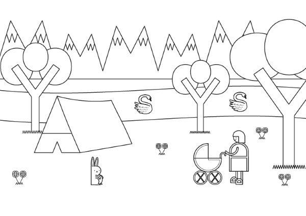 Dibujo De La Palabra Otoño Para Colorear Con Los Niños: Letras Escondidas: Dibujo Para Colorear E Imprimir