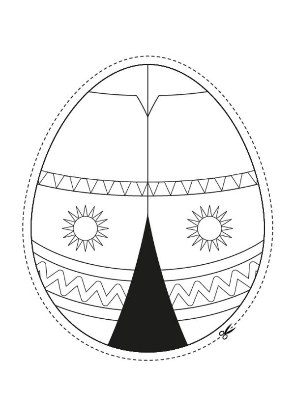 Huevo de Pascua indio: dibujo para colorear e imprimir