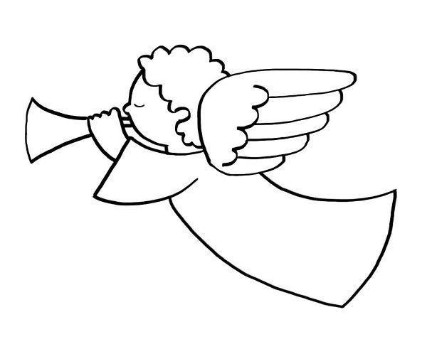 Un ángel: dibujos para colorear e imprimir