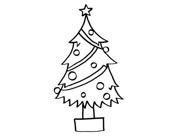 Rbol de navidad dibujo para colorear e imprimir for Dibujo arbol navidad