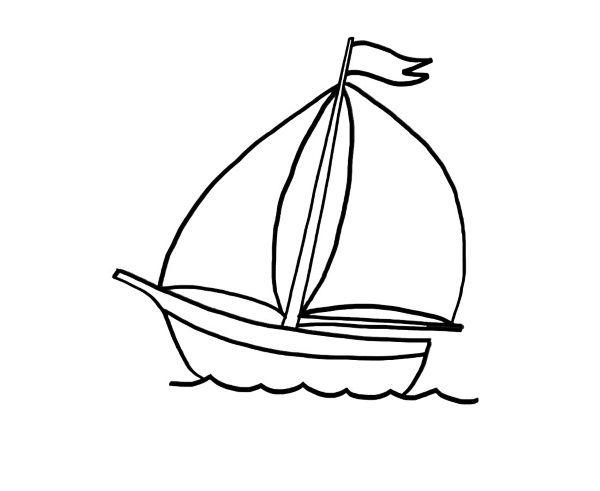 Dibujos De Velas De Navidad Para Colorear: Barco De Velas: Dibujo Para Colorear E Imprimir