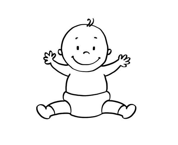 Un bebé: dibujo para colorear e imprimir