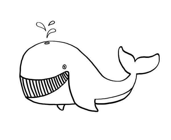 Una ballena: dibujos para colorear e imprimir