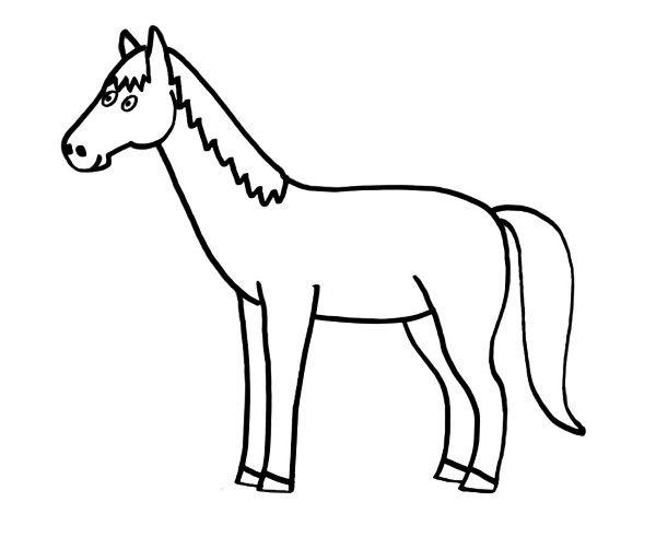 Worksheet. caballo dibujo para colorear e imprimir