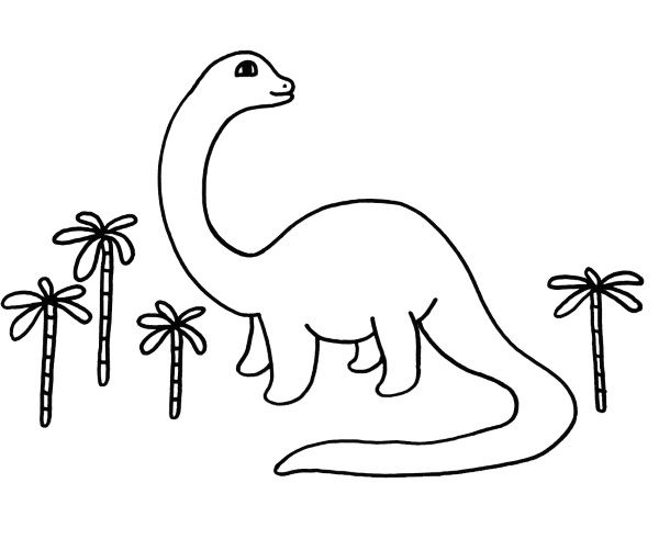 Un dinosaurio: dibujo para colorear e imprimir