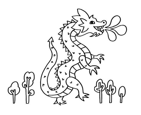 Dibujos Para Colorear Dibujos De Dragones Para Imprimir 4: Un Dragón: Dibujo Para Colorear E Imprimir