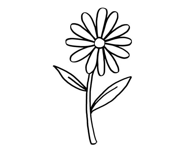 Una margarita: dibujo para colorear e imprimir