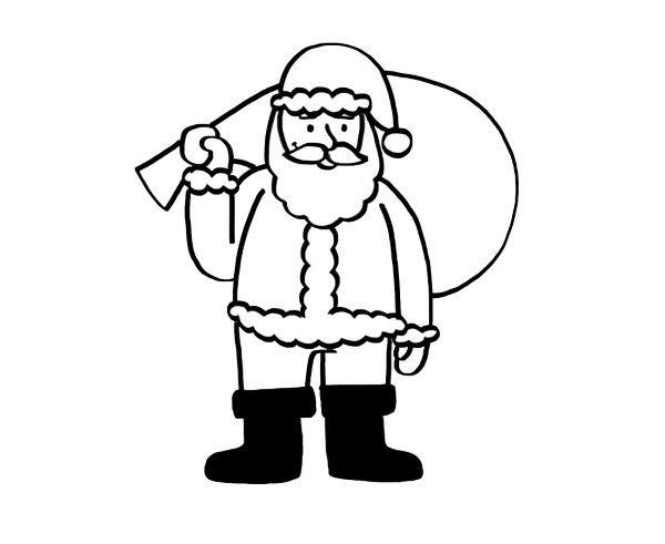 Papá Noel: dibujo para colorear e imprimir