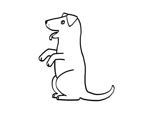 Perro. dibujo para colorear e imprimir