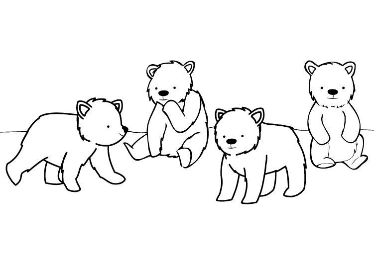 Carnaval de los osos: dibujo para colorear e imprimir