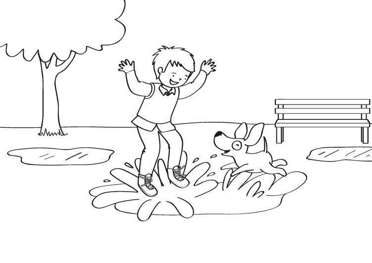 Tom y los charcos: dibujo para colorear e imprimir