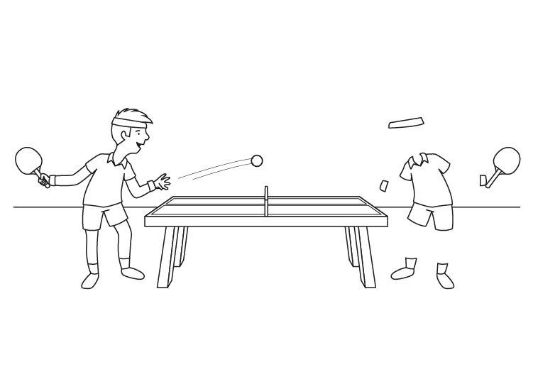 El hombre invisible y su hermano: dibujo para colorear e imprimir