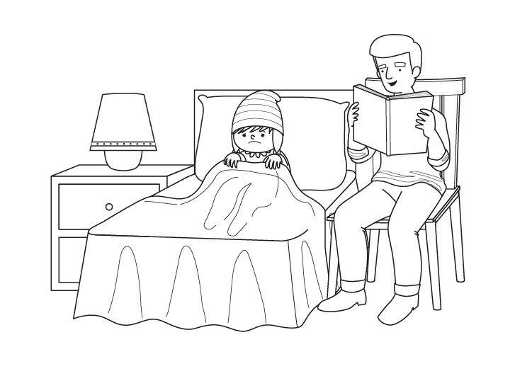 Tu libro favorito: dibujo para colorear e imprimir