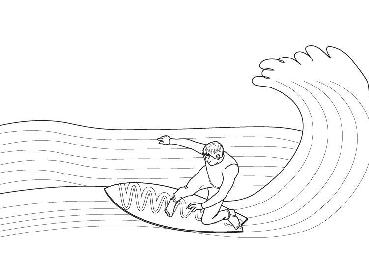 El Mejor Porter Para Colorear El Mejor Porter Para Imprimir: Surf: Dibujo Para Colorear E Imprimir