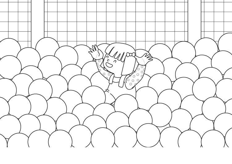 Piscina de bolas dibujo para colorear e imprimir for Bolas para piscina de bolas