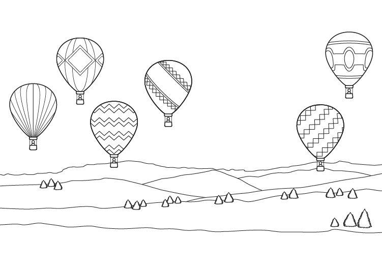 Worksheet. de globos dibujo para colorear e imprimir