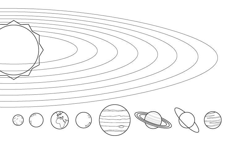 Dibujos Para Colorear Del Sistema Solar: Los Planetas: Dibujo Para Colorear E Imprimir