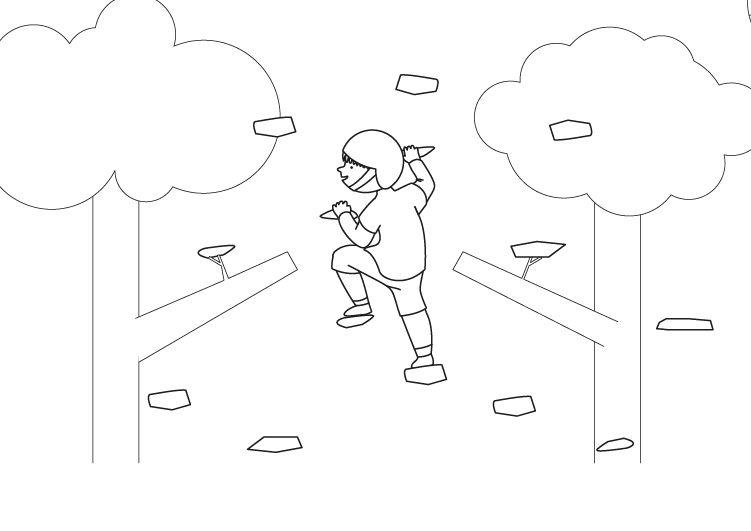 Pared de escalada: dibujo para colorear e imprimir