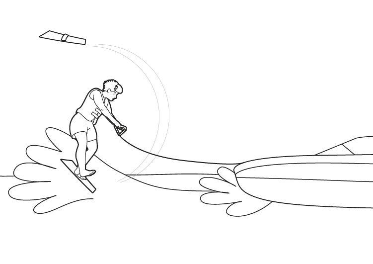 Esquí acuático: dibujo para colorear e imprimir