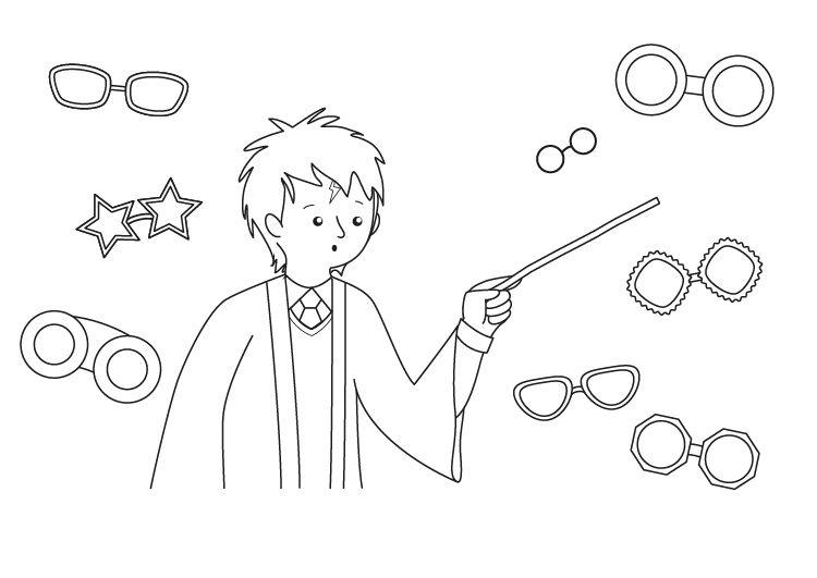 Harry Potter: dibujo para colorear e imprimir