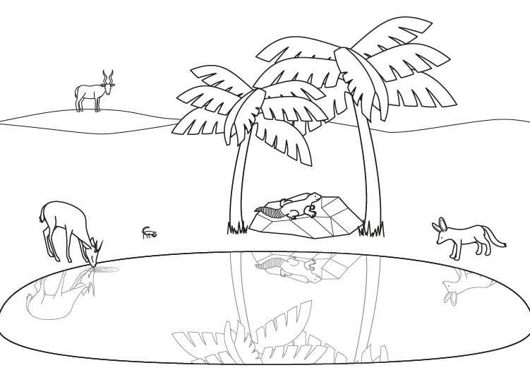 desert oasis coloring pages - photo#13