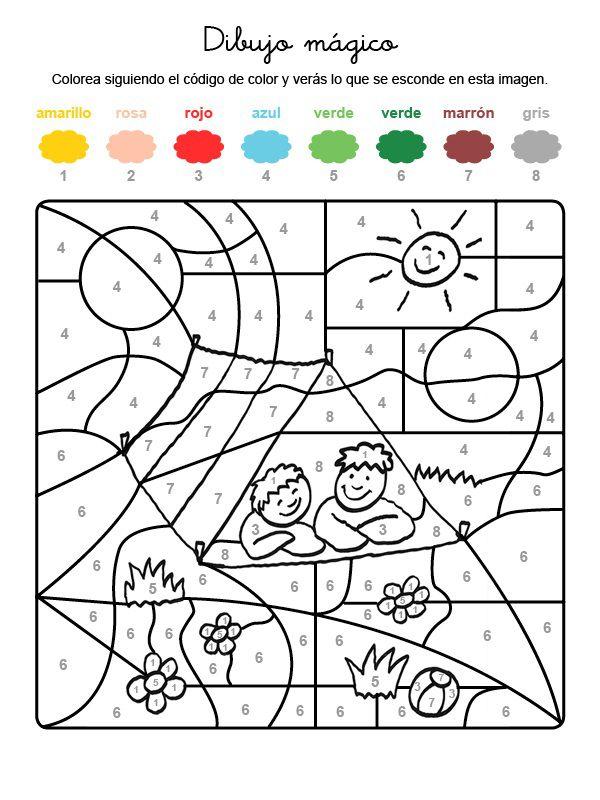 Dibujo Mágico De Una Tienda De Campaña Dibujo Para Colorear