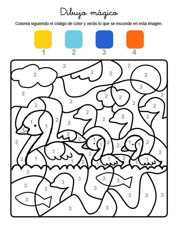 Dibujo Magico De Patitos Dibujo Para Colorear E Imprimir