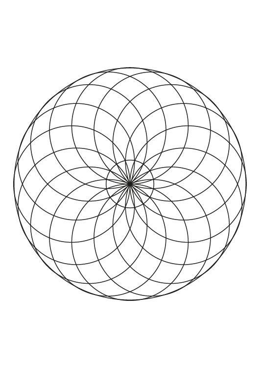 Mandala de círculos: dibujo para colorear e imprimir
