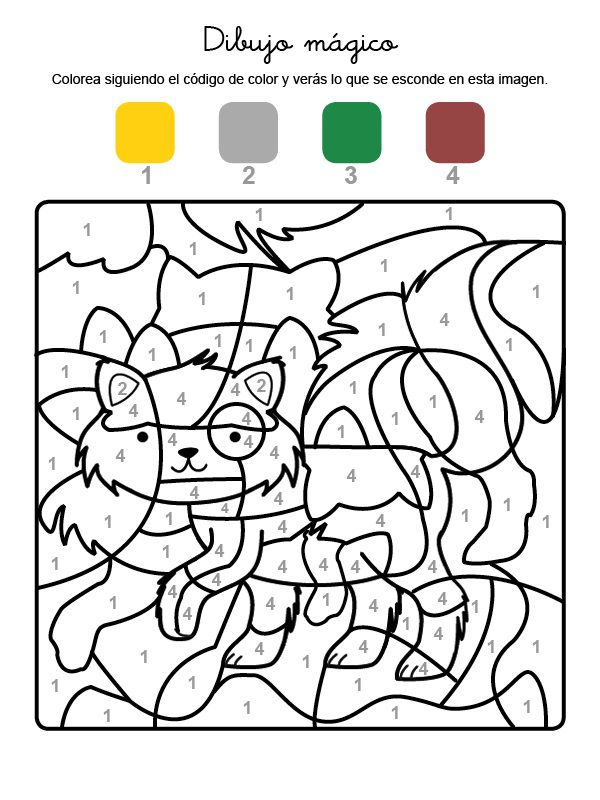 Dibujo mágico de un gatito: dibujo para colorear e imprimir