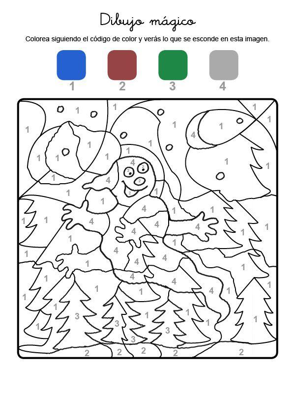 Dibujo mágico de un fantasma: dibujo para colorear e imprimir