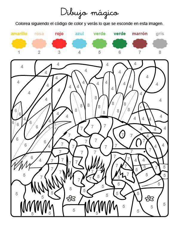 Dibujo mágico de oso hormiguero: dibujo para colorear e imprimir