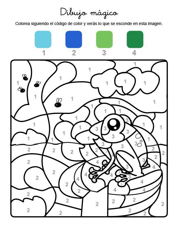 Dibujo Mágico De Una Rana Dibujo Para Colorear E Imprimir