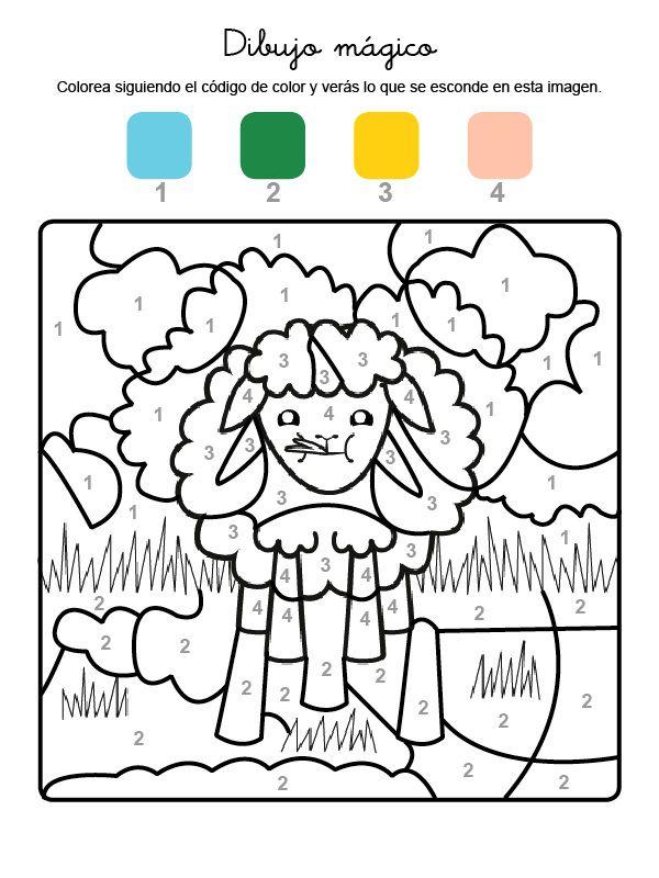 dibujo mgico de una oveja dibujo para colorear e imprimir