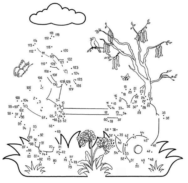 Imprimir Dibujo de unir puntos de un conejo dibujo para colorear