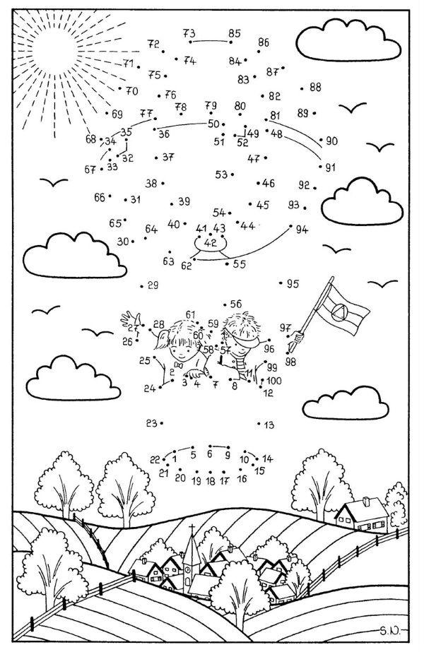 Bonito Punto A Punto Para Colorear Páginas 1 10 Cresta - Dibujos ...
