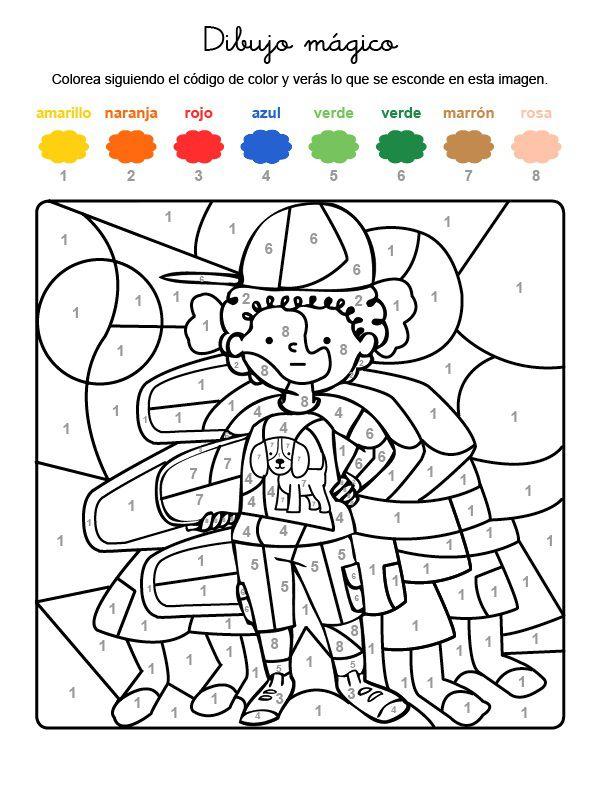 Dibujo mágico de niño con gorra: dibujo para colorear e imprimir