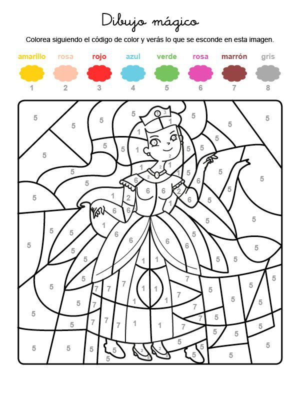 Magnífico Princesa Imprimible Corona Para Colorear Colección de ...