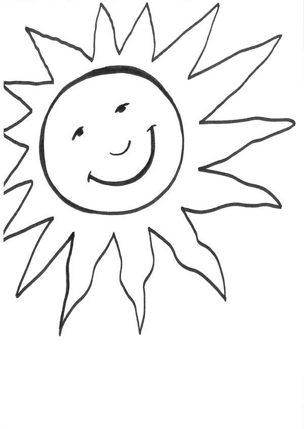 Sol Sonriendo Dibujo Para Colorear E Imprimir